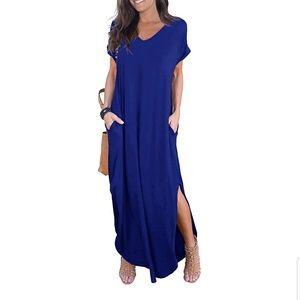 Women's blue medium maxi dress NWOT